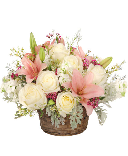 Romantic Bliss Arrangement In Oakland Me Visions Flowers Bridal