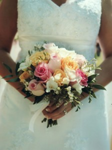 Romantic Clutch Bouquet Wedding in North Adams, MA | MOUNT WILLIAMS GREENHOUSES INC
