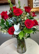 Romantic dozen roses