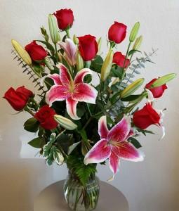 ROMANTIC GAZE Vase Arrangement in Moore, OK   A New Beginning Florist