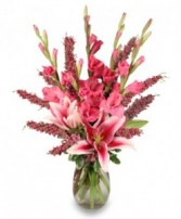 Romantic Pink Anniversary Bouquet