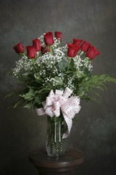Romantic Red Rose Boquet Dz. Red Roses arranged