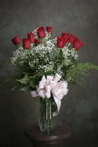 Romantic Red Rose Boquet Dz. Red Roses arranged
