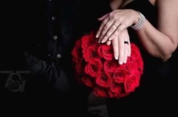 Romantic red rose bouquet  Brides bouquet