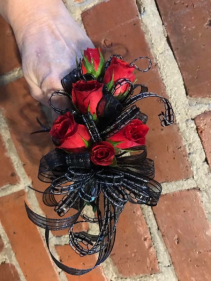 Romantic Red Roses Prom Corsage