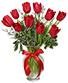Romantic Red Tulips Arrangement