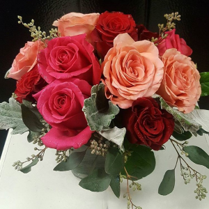 Romantic Roses Arrangement in Chatham, NJ | SUNNYWOODS FLORIST
