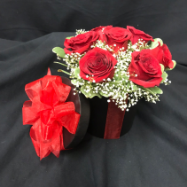 Romantic Round Box  Rose Arrangement