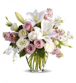 Romantic Springtime Blooms Floral Arrangement in Winston Salem, NC   RAE'S NORTH POINT FLORIST INC.