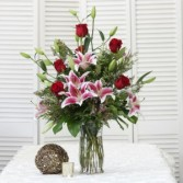 Romantic Stargazing Tall Vase Arrangement