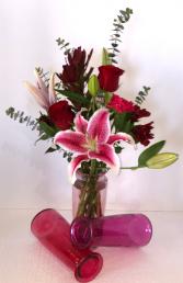 Romantic Surprise Valentine Arrangement