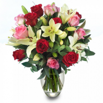 romantic thoughts  vase arrangement