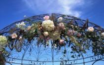 Romantic Wedding Arbors Wedding Ceremony Flowers