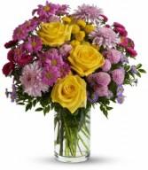 Romantic Wildflowers Vase Arrangement