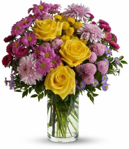 Romantic Wildflowers Vase Arrangement