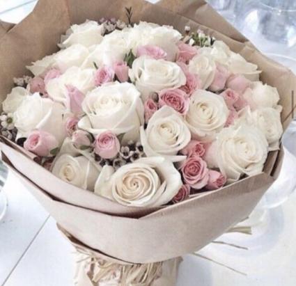 Romantic Wrapped Bouquet Rose Arrangement