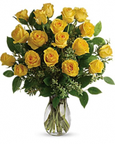 Romantic Yellow Roses