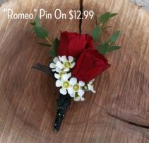 Romeo Pin-On Boutonniere