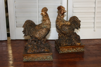 Rooster Bookends