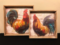 Rooster Serving Tray Art