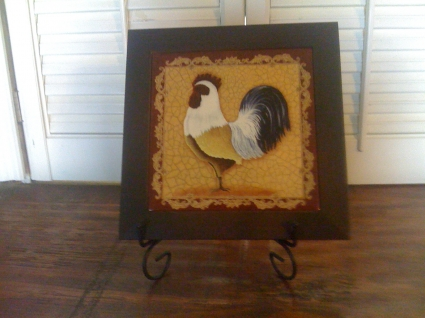 Rooster Trivet and Stand
