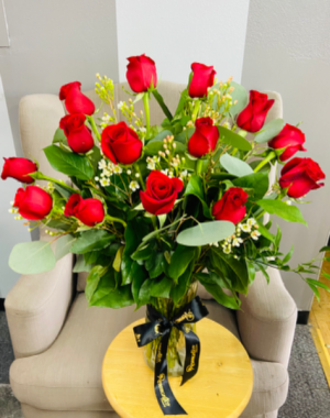 Pura Vida- One Dozen Premium Red Roses in Whittier, CA | Rosemantico Flowers