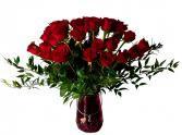 Rosas Rojas en Espectacular Vase Arreglo de Rosas Rojas