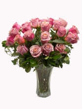 Rosas Rosadas Arreglo Floral