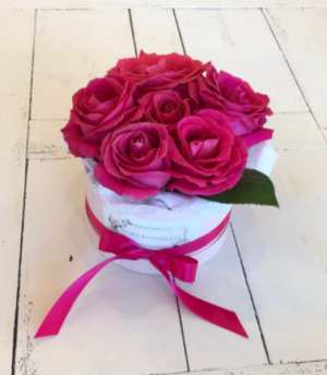 Pink Rose Flower Box  in Sparta, NJ | Bluet Flower Co.