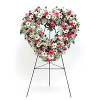 Rose and Daisy Heart Easel  in Clearwater, FL | FLOWERAMA