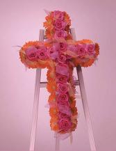 Rose and Gerbera Daisy Cross SF58-21