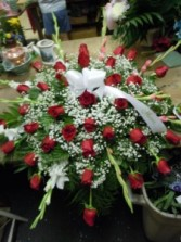 Rose and Gladiola (C 23)  Casket Spray