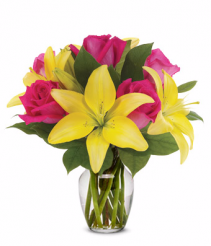 Rose and Lily Lemonade Bouquet get well