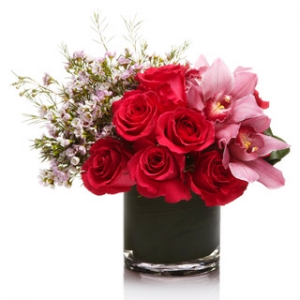 Rose and orchid  vase  Cupid's arrow  in Ozone Park, NY | Heavenly Florist