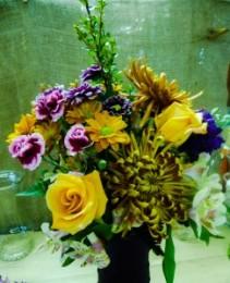Rose and Spider Mum Vase