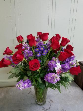 Rose and stock burst roses in henderson tx rayford florist gifts rose and stock burst roses mightylinksfo