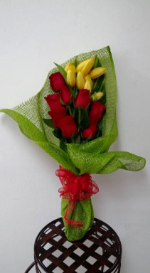 Rose and Tulip Bouquet Love Arrangement