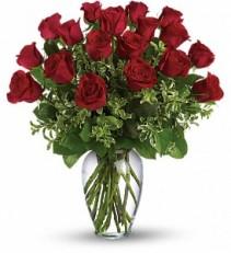 24 Long Stem Red Rose Arrangement My Sweet Love!! 1dz, 1 1/2 dz or 2dz shown