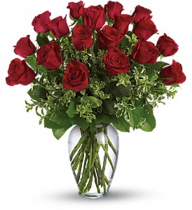 24 Long Stem Premium Red Rose Arrangement My Sweet Love!! 1dz @ 85.00, 18 stm (as shown)  135.00 or      24 stm  @ 170.00 in Magnolia, TX | ANTIQUE ROSE FLORIST