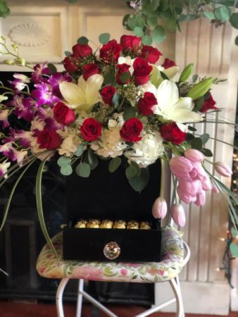 Rose Assorted Surprise Box Wood Box