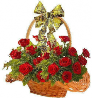 rose basket roses in Canton, GA   Canton Florist