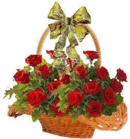 rose basket roses