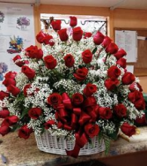 Over the Top Rose Basket! Valentines Day