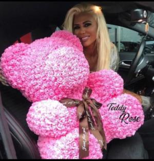 Rose Bear Limited supply !  Xtra large Rose Bear  in Ozone Park, NY | Heavenly Florist