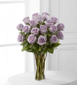 24 Violet Roses Classic Rose Design
