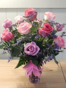 Rose Bouquet Roses Vased