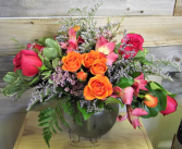 Rose Bowl Bubble Bowl Arrangement