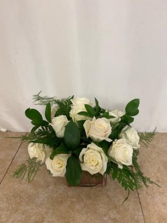 Rose Bowl Delight Compact rose arrangement
