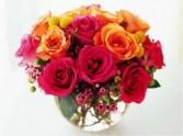 Rose Bowl Love Vase Arrangement
