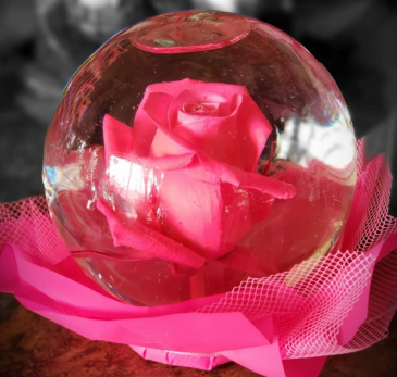 Rose Bubble Bowl Hot Pink